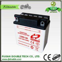 long life sealed maintenance free 12v 3ah motorcycle battery