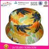 Promotion wholesale cheap custom floral print bucket hat