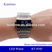 Custom logo iron man blue LED watch - retro styling with a modern edge