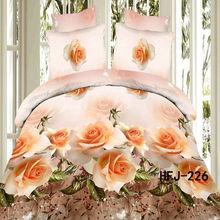 Alibaba China 3D flower design bed sheet & bedding set & bedspread