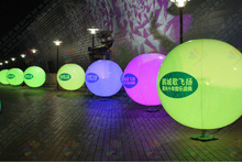 China facotry PVC inflatable LED giant balloon light for christmas decoration