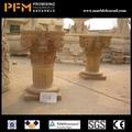 La última venta caliente baratos bien pulida hermoso tallado a mano blanco romana olla con los pies gigante de la maceta de jardín/urna/plantador de elegante diseño