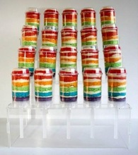 4 stair clear acrylic push up pop cake display stand push pop container