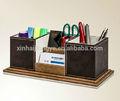 échantillon gratuit prix usine exquis. boîte de rangement de bureau en cuir, étui à crayons en cuir sur le bureau