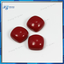 Nicely Polished Synthetic Turquoise 10x10mm Red Loose Gemstone Cabochons Square Shape Turquoise