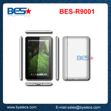 With incredible HD screen 9 inch dual core android zinc tablets pc