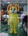 Fabrik direktverkauf erwachsene halloween beliebt schönen gelben maus ratte cartoon-maskottchen kostüm partei cosplay kostüm