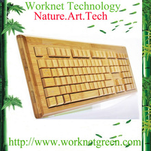 wholesale russian desktop keyboard 108 keys wireless bamboo keyboard