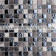 FICO NEW ARRIVAL METAL MOSAIC Aluminium mosaic glass vase GML069S