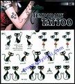 transferência temporária de água preta homem tatuagem