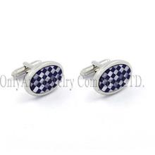 lapis lazuli and shell inlaid metal custom cufflink,cheap cufflink jewelry with T-bar, alibaba wholesale