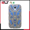 Stylish new design hybrid rugged hard shockproof galaxy s4 kickstand case