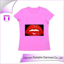 100%cotton 2015 summer fancy design women printed t-shirt new style