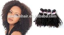 1B Color 8 inch 5A Eurasian Short Kinky Curly Virgin Hair Extension