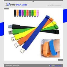 silicon bracelet usb flash drive ,promotional gift bracelet usb 8gb ,silicone slap band usb flash drive