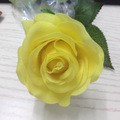 Latex real touch small yellow rose artificial flower for sale, yellow rose flower