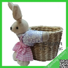 Fashionable cute hot selling easter bunny basket craft,small gift ideas,christmas gift baskets empty