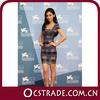 2014 hot selling star style cap sleeve bandage dress sexy grey dress