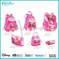 2014 atacado moda infantil escola crianças saco mochila de carrinho para as meninas