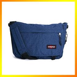 Stylish and functional 100% polyester denim messenger bag