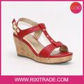 señora 2015 cuñas sandalias zapatos de diseño con encanto de alta calidad bajo precio