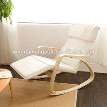 bentwood metal recliner rocking chair