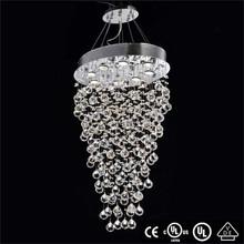 cristal de iluminación decorativa tiras de metal cromado