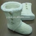 Botas de caxemira para mulheres / senhoras botas brancas