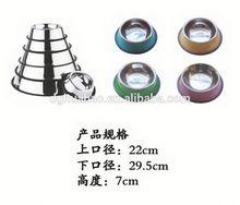 wholesale fashion design pet products composite resin bowl