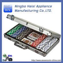 Alibaba china new arrival 300pcs poker chip set in black case