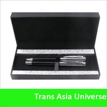 Top quality hot sale logo Black Luxury Metal pen set