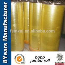 china high quality jumbo roll adhesive cutting tape