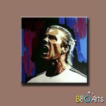 wholesale best quality football star portrait art digital print on canvas