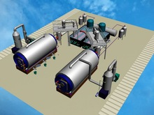 Newest design of pyrolysis plant to pyrolysize the waste tire or plastic into fuel oil carbon char and steel wire with CE