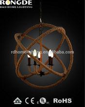 Belo design 5-lite globo luminária & chandelier bom para o hotel ou villa