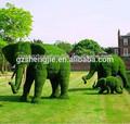 schlanke realistische künstliche tier topiary gefälschte gras tier topiary