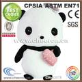 fabrico de alta qualidade gigante de panda de pelúcia brinquedo com uma rosa saco