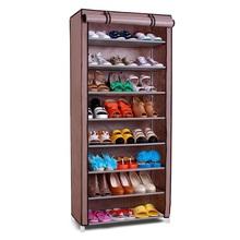 SW Wardrobe Closet Storage Organizer Hanger Clothes Rack Shoe Standing Portable Fashion foldable non-woven shoe rack