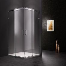 Luxury shower room double sliding glass door shower room with clear plastic shower door seal strip