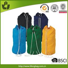 Wholesale shoulder shopping cotton canvas duffel bag