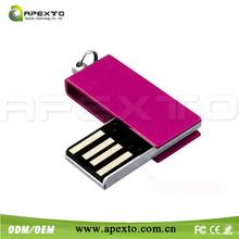 2014 Hot sale mini usb charger usb memory stick bulk cheap swivel usb pen drive stick 32gb