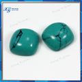 en bruto 2014 turquesa piedra 7x7mm plaza de forma sintética de piedra turquesa precio al por mayor de color turquesa irán