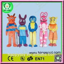HI CE high quality funny custom backyardigan mascotte costumes for adult