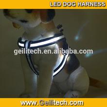 Wholesale led flashing light dog harness led dog harness pet dog cat products with 8color