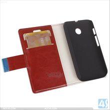 Alibaba in Russia wallet leather case for Motorola MOTO E / XT1022 P-MOTXT1022SPCA004