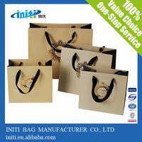 wax coated paper bag/custom luxury gift bags wax coated paper bag