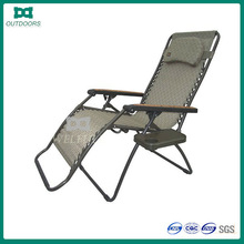 Adjustable folding recliner sun lounger chair beach chair with table