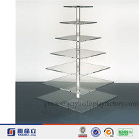 Hot Sale!!!Factory Manufacturing Custom Modern Crystal Acrylic Wedding Cake Display Stand