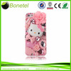 For Apple iPhone 5 5S 3D Bling Pink Cute Fairy Hello Kitty Flower Case Cover