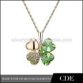moda collar de cristal conjunto hecho con elementos modernos